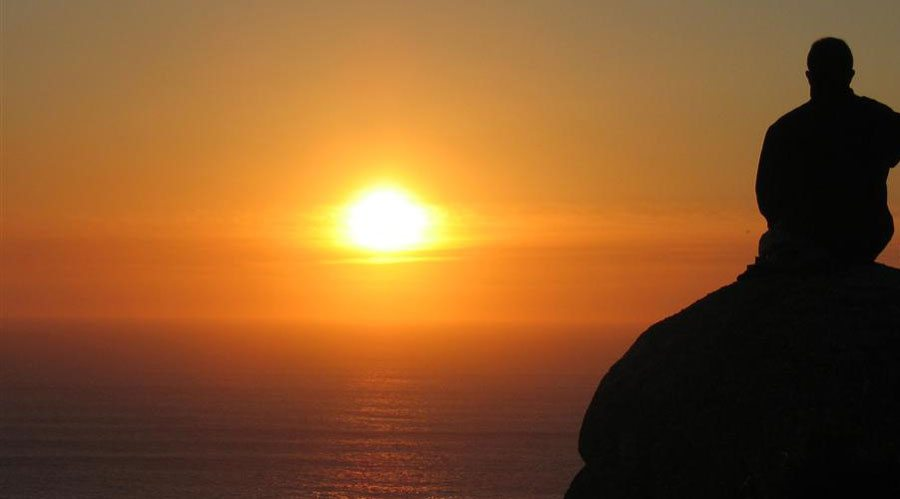 sunset at cape finisterre